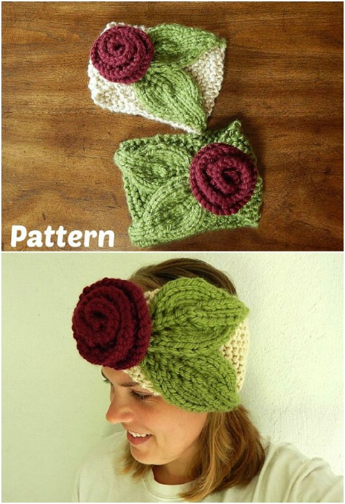 30 Easy And Stylish Knit And Crochet Headband Patterns - DIY & Crafts