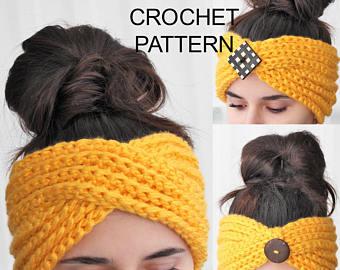 Crochet headband | Etsy