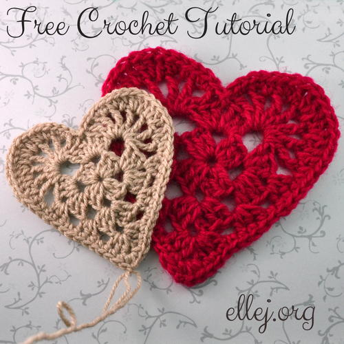 Granny Heart Motif | AllFreeCrochet.com