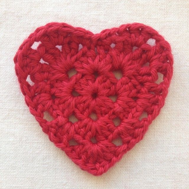 Granny Square Heart Tutorial! | Crochet | Pinterest | Crochet