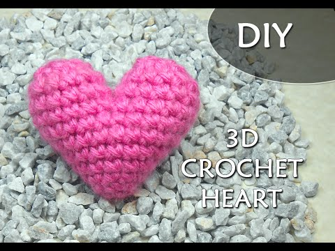 CROCHET PATTERN: 3D or PUFFY CROCHET HEART | Patrones Valhalla ENG