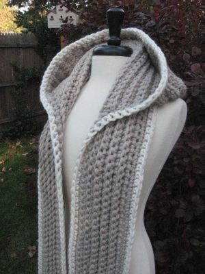 Nordic Hooded Scarf by nutsaboutknitting by sweet.dreams | crochet