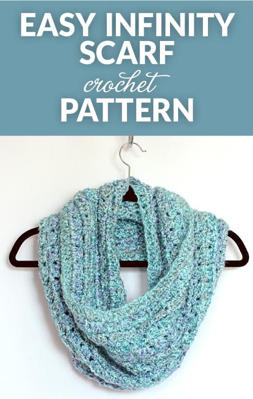Crochet Infinity Scarf - Dabbles & Babbles