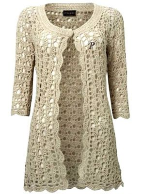 Learn how to make this beautiful coat of crochet - Free Crochet