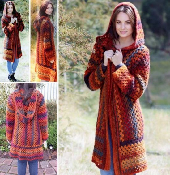 Crochet Hooded Jacket Pattern Free Video Tutorial | Anything to do