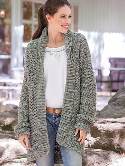 Crochet Cardigan & Vest Patterns - Zigzag Crochet Jacket
