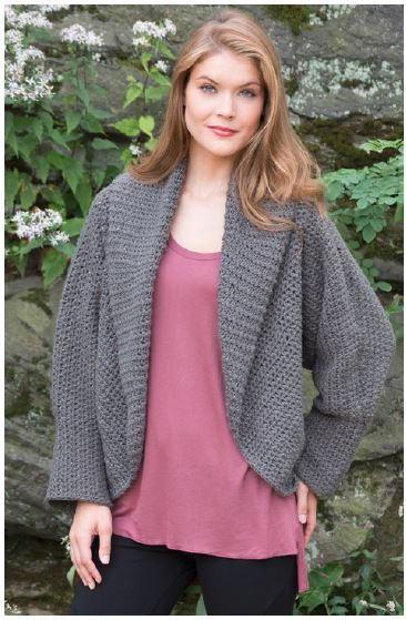Totally Warm Crochet Jacket Pattern | AllFreeCrochet.com