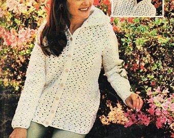 Crochet jacket | Etsy