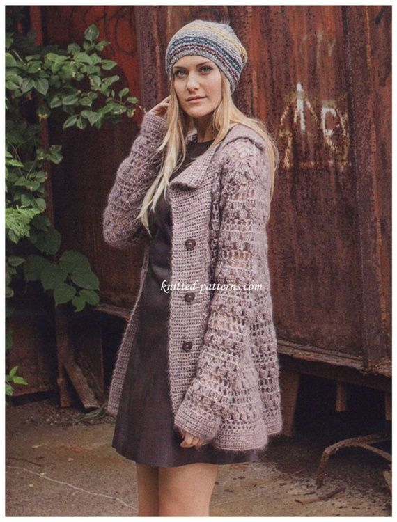 45 Crochet Women Sweater Coat Cardigan Free Patterns [Open Front
