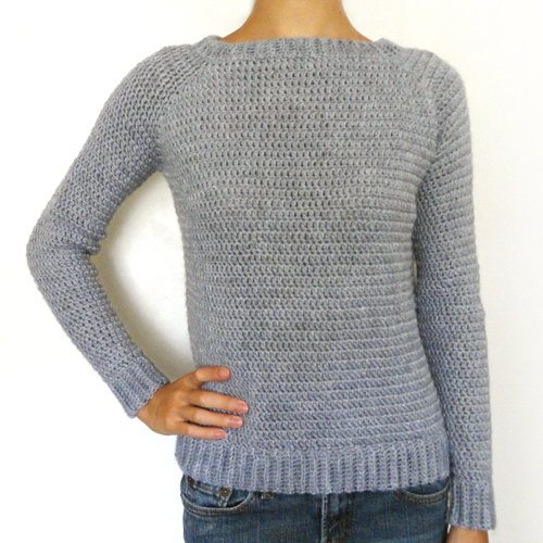 THE perfect sweater! No sewing Crocheted in one piece! | Projects to