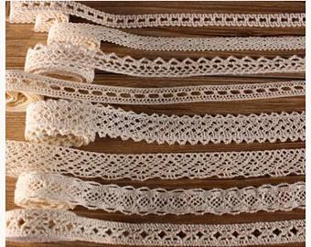 Ecru crochet lace | Etsy