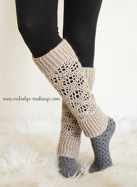 Ravelry: Wisteria Leg Warmers ~ Crochet Version pattern by Melody Rogers