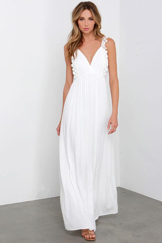 Beautiful Crochet Lace Dress - Ivory Dress - Maxi Dress - $66.00