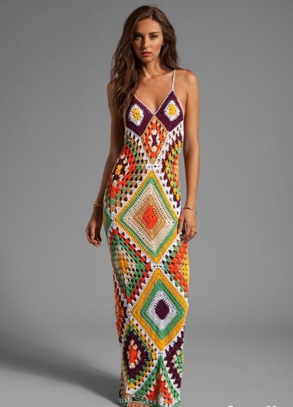 Crochet Beach Dress Crochet Maxi Dress Crochet Dress | Etsy