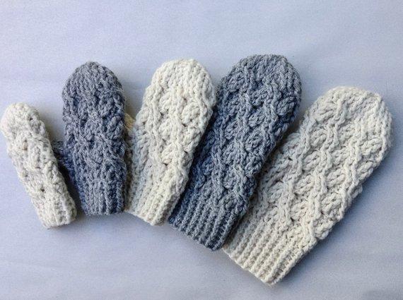 Crochet Pattern Crochet Mitten Pattern The Cadence Mittens | Etsy