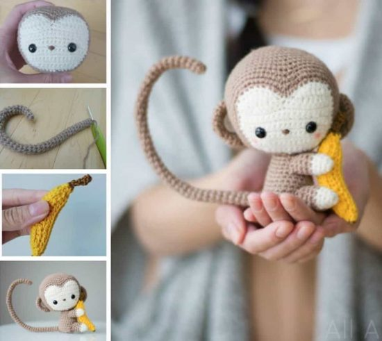 Monkey Face Crochet Pattern Is Super Cute To Boot | The WHOot