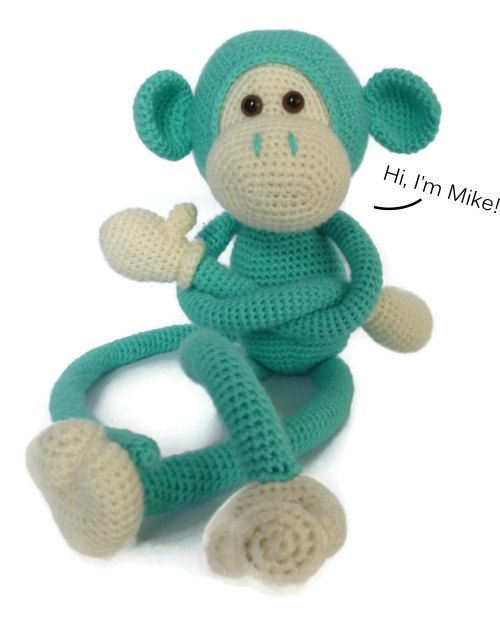 Mike the Monkey - Amigurumi Crochet pdf Pattern (EN, DK & NL) | 4