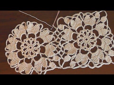 How to crochet easy for beginners Crochet motif dress pattern Part 2