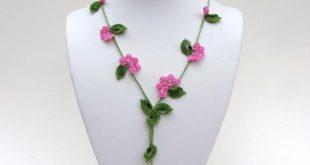 Crochet Necklace PDF PATTERN Vine Necklace Photo Tutorial Oya | Etsy