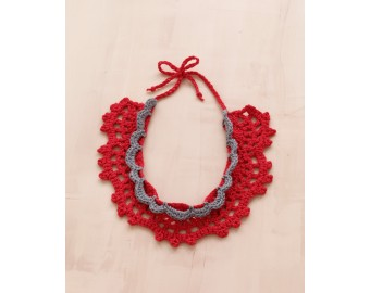 Lace Crochet Necklace Pattern | Lion Brand Yarn