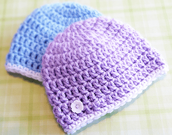 Newborn Charity Hat Crochet Pattern | Little Monkeys Crochet