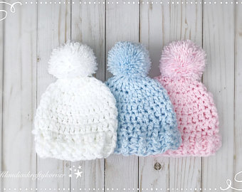 Crochet newborn hat | Etsy