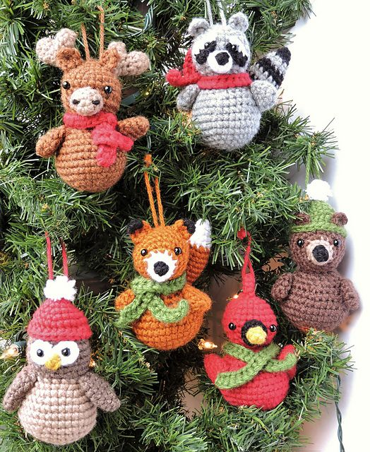 Christmas Ornaments pattern by Jennifer Percival | Crochet