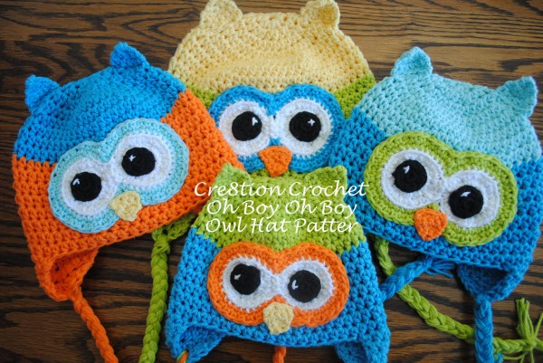 Free Crochet Owl Hat Pattern Oh Boy Oh Boy