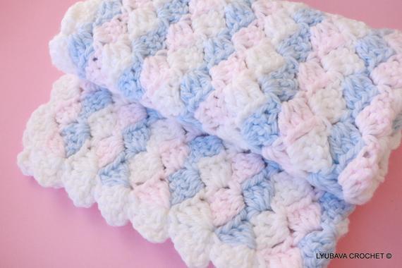 Easy Baby Blanket Crochet PATTERN Baby Blanket PATTERN Boy | Etsy