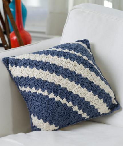 Diagonal Pillow | Red Heart