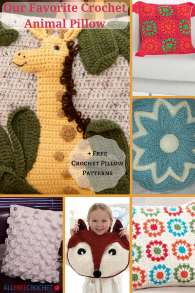 Our Favorite Crochet Animal Pillow + 11 Free Crochet Pillow Patterns