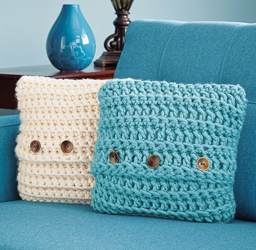 Mary Maxim - Quick Crochet Pillow Cover