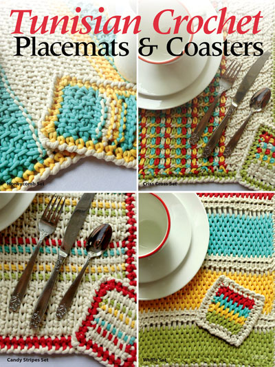 Tunisian Crochet Patterns - Tunisian Crochet Placemats & Coasters