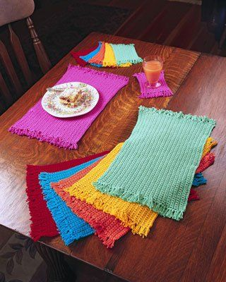 FREE Placemat Crochet Patterns | crochet | Crochet placemats