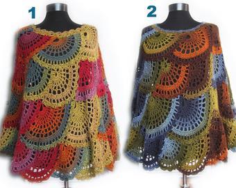 Crochet poncho | Etsy