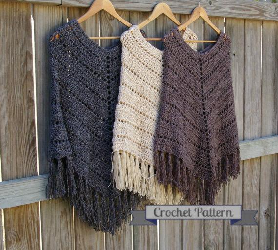 Crochet Pattern Boho Poncho Pattern Crochet Poncho Pattern | Etsy