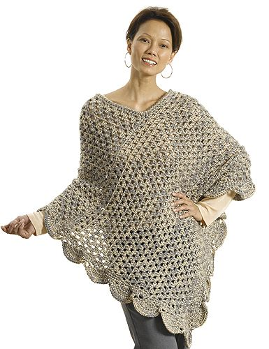 Perfect beginner crochet poncho: free pattern | Crochet LOVE