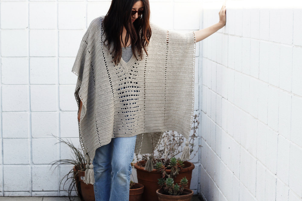 Cross Country Poncho Pattern u2014 Two of Wands