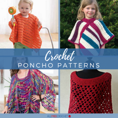 65+ Crochet Poncho Patterns | AllFreeCrochet.com
