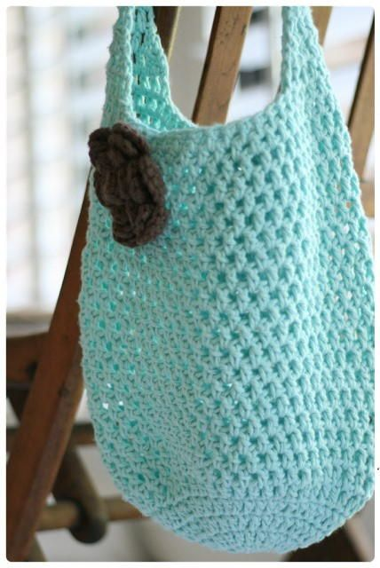 Two Hour Tote | Free Crochet Bag Patterns | Crochet, Crochet