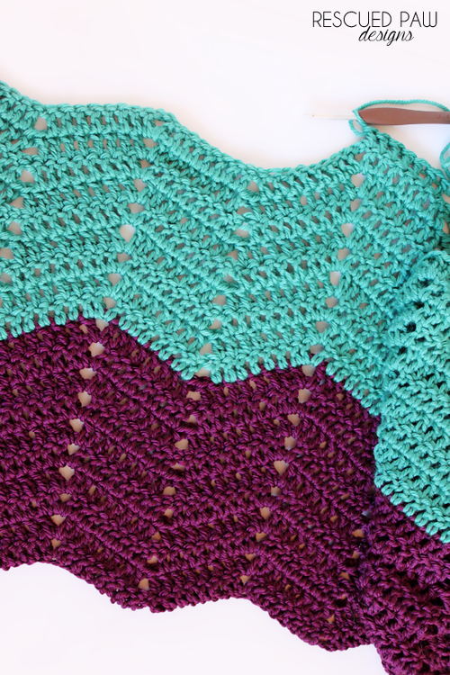 CROCHET RIPPLE PATTERN FOR AFGHANS