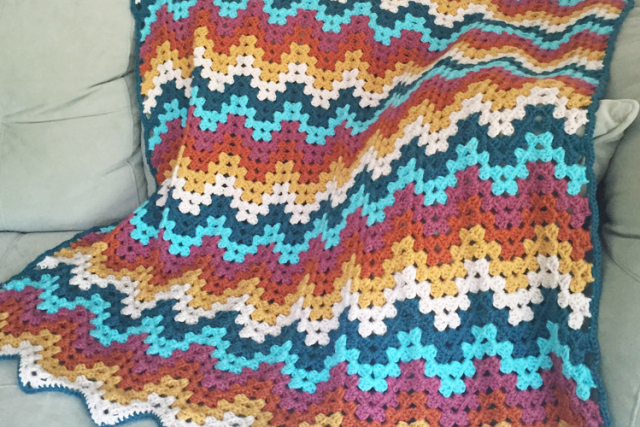 Free crochet ripple stitch blanket Patterns ⋆ Knitting Bee (13 free