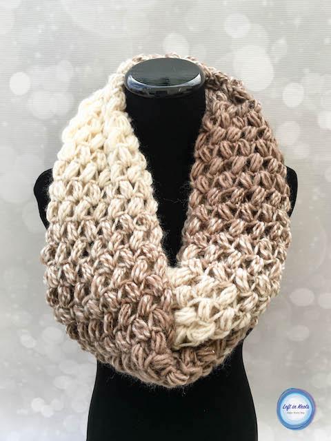 Coffee Bean Infinity Scarf Crochet Pattern u2014 Left in Knots