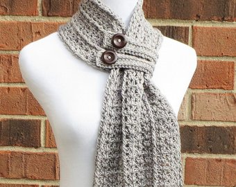 Crochet scarf pattern | Etsy