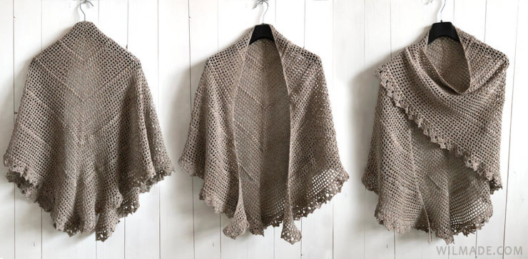 Durable Friendship Shawl - free crochet shawl pattern by Wilmade