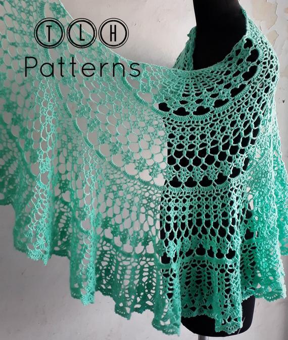 Crochet shawl pattern lace shawl crochet pattern crochet | Etsy