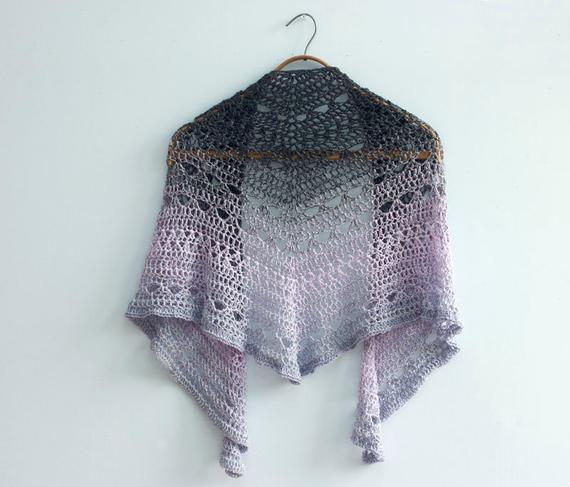 Crochet Shawl Pattern Lace Shawl Triangle Shawl Crochet | Etsy