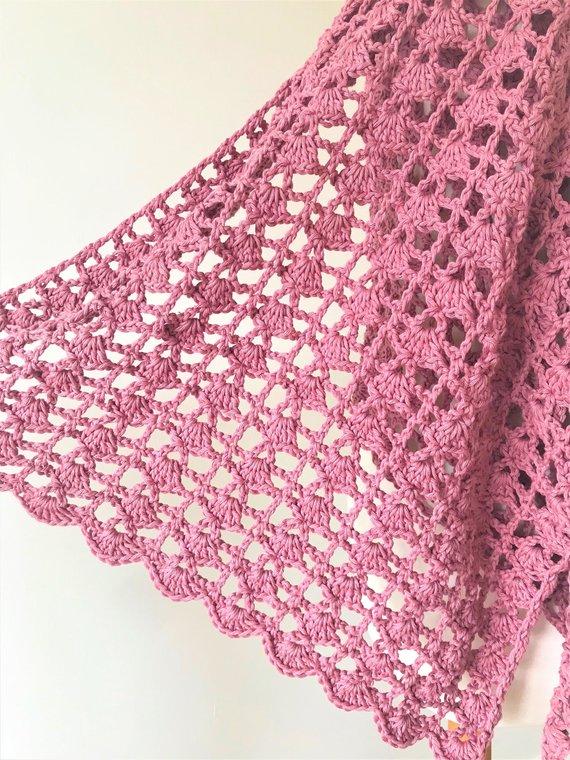 Crochet Shawl Pattern, Crochet Lacy Shawl Pattern, Crochet Lacy Wrap