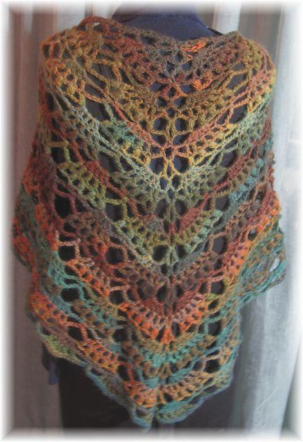 Elegant Shawl pattern by Lion Brand Yarn | CrochetHolic