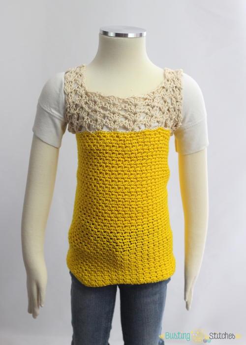 Yellow Crochet Shirt | AllFreeCrochet.com